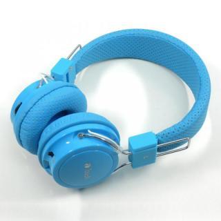 MP3再生機能付き Bluetooth ヘッドホン ブルー