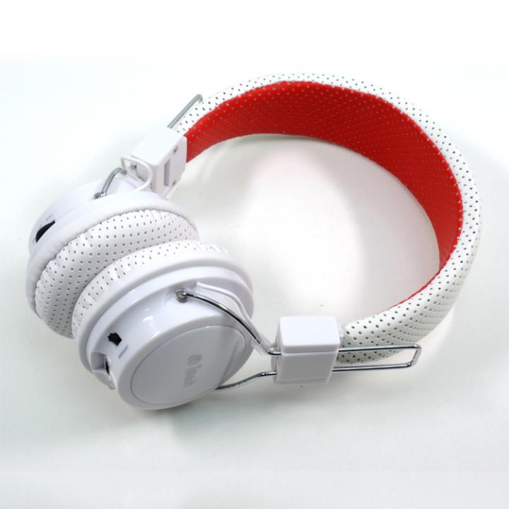 MP3再生機能付き Bluetooth ヘッドホン ホワイト_0