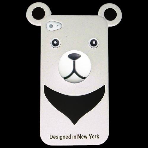 iPhone4s/4 シリコン Bear, White