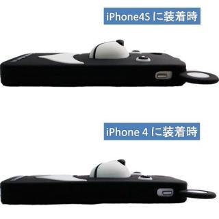 iPhone4s/4 シリコン Bear, White_1