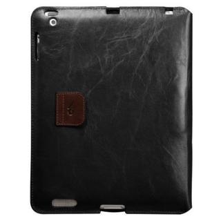 iPad (第2-4世代) /スタンド機能つき ブックタイプ 本革レザー ケース Black / Brown_1