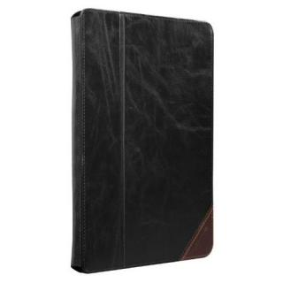 iPad (第2-4世代) /スタンド機能つき ブックタイプ 本革レザー ケース Black / Brown_2