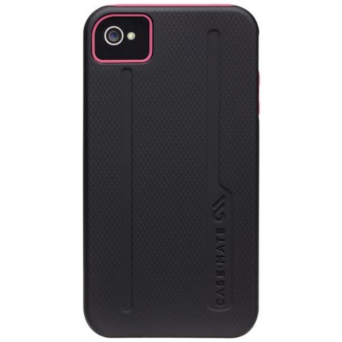 iPhone4s/4ケース Hybrid Tough Black / Pink_0