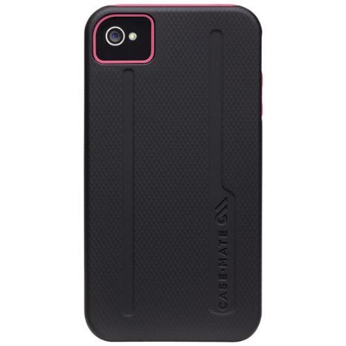 iPhone4s/4ケース Hybrid Tough Black / Pink_0