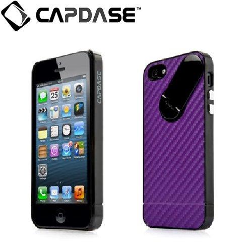 iPhone SE/5s/5 ケース スナップジャケット グラファイト iPhone SE/5s/5 Purple/Black スタンド機能付き_0