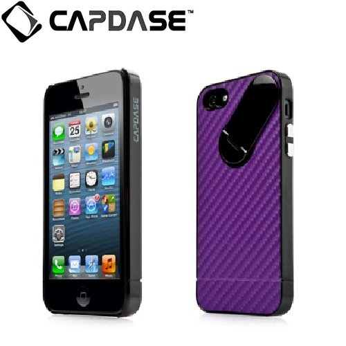 スナップジャケット グラファイト iPhone SE/5s/5 Purple/Black スタンド機能付き