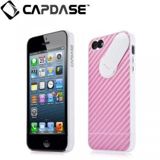 スナップジャケット グラファイト iPhone SE/5s/5 Pink/White スタンド機能