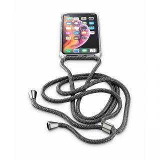 iPhone XS/X ケース Cellularline ネックストラップ付きケース ブラック iPhone XS/X