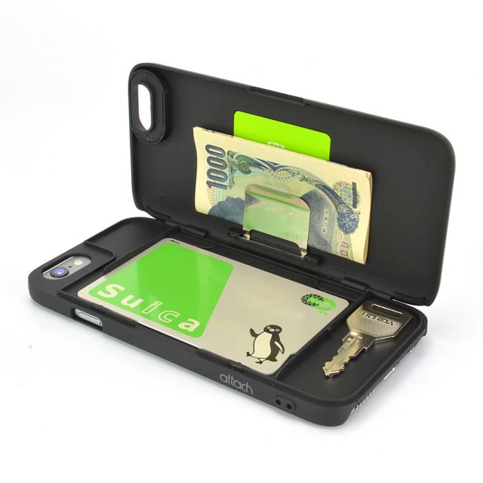 【iPhone6ケース】iCash ICカード対応ケース ブラック iPhone 6_0