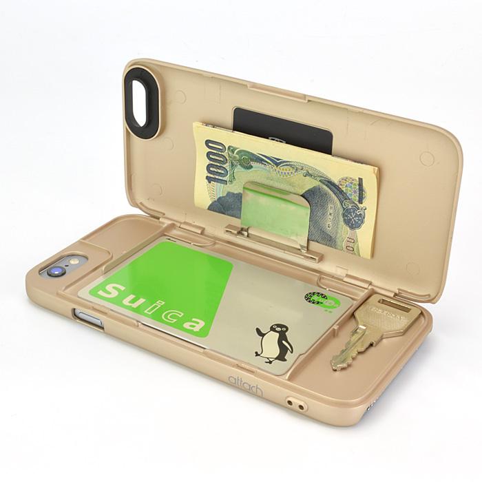 iPhone6 ケース iCash ICカード対応ケース ゴールド iPhone 6_0