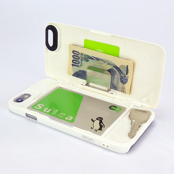 【iPhone6ケース】iCash ICカード対応ケース ホワイト iPhone 6_0