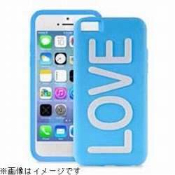 iPhone 5c NIGHT GLOW COVER LOVE BLUE
