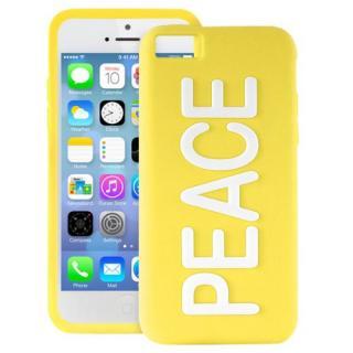 iPhone 5c NIGHT GLOW COVER PEACE YELLOW