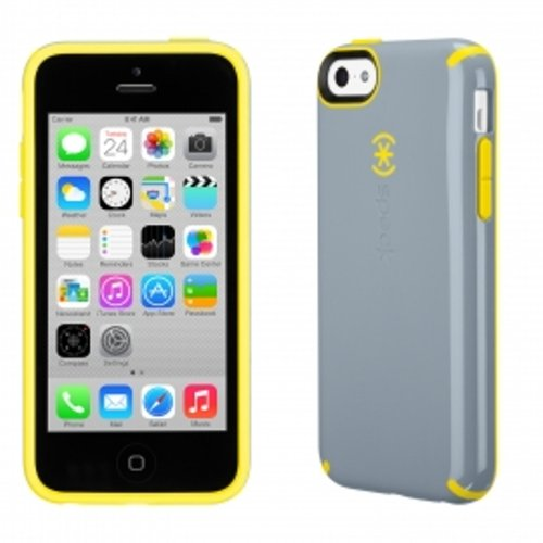 iPhone 5c CandyShell Nickel Grey/Caution Yellow_0