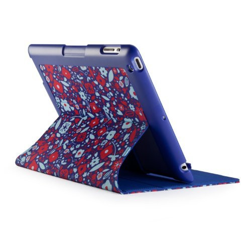 iPad(第2-4世代) gen FitFolio - BitsyFloral Blue/Red SPK-A1717_0
