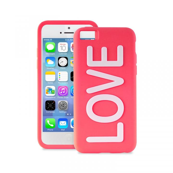 iPhone 5c NIGHT GLOW COVER LOVE PINK_0