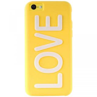 iPhone 5c NIGHT GLOW COVER LOVE YELLOW