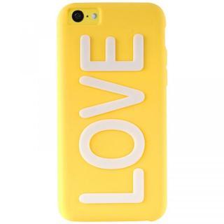 iPhone 5c NIGHT GLOW COVER LOVE YELLOW