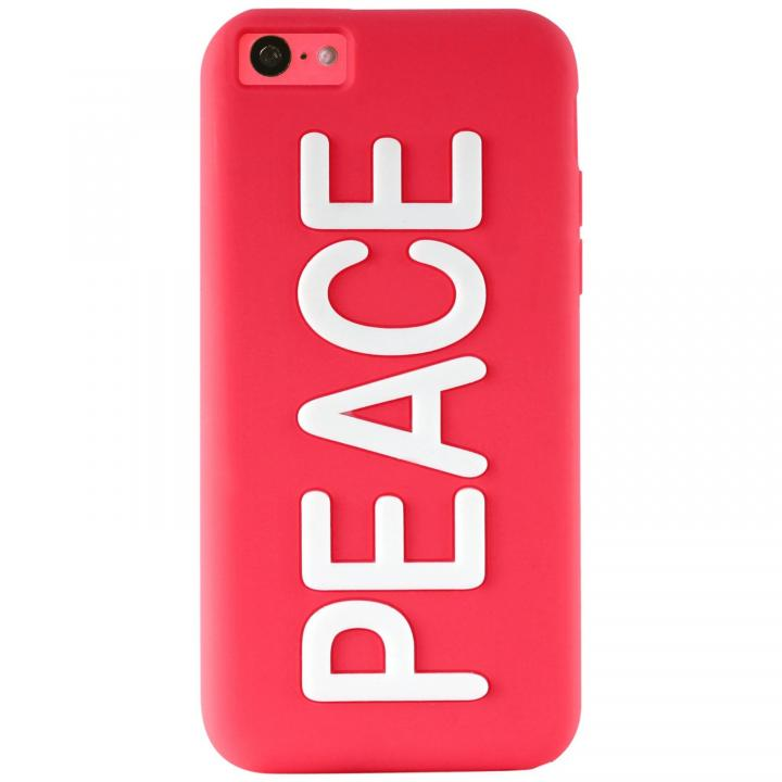 iPhone 5c NIGHT GLOW COVER PEACE PINK_0