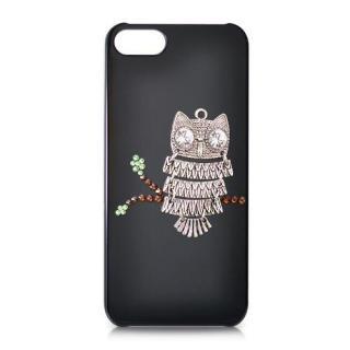 iPhone SE/5s/5 スワロフスキー フクロウクリスタルケース