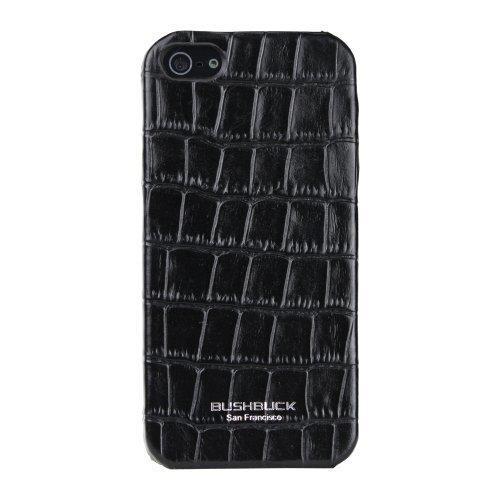 iPhone SE/5s/5 ケース Bushbuck 【iPhone5用本革ケース】 Caiman シェニュインレザーケース ブラック_0
