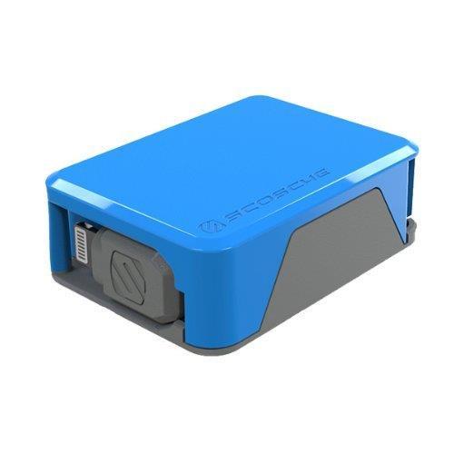 Apple認証取得の巻取式Lightning ケーブル boltBOX ブルー_0