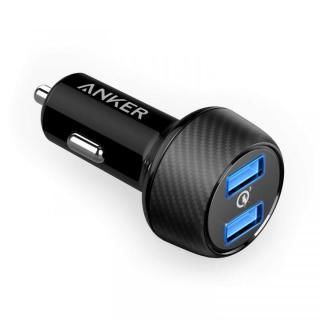 Anker PowerDrive Speed 2 QC3.0対応 2ポート USBカーチャージャー