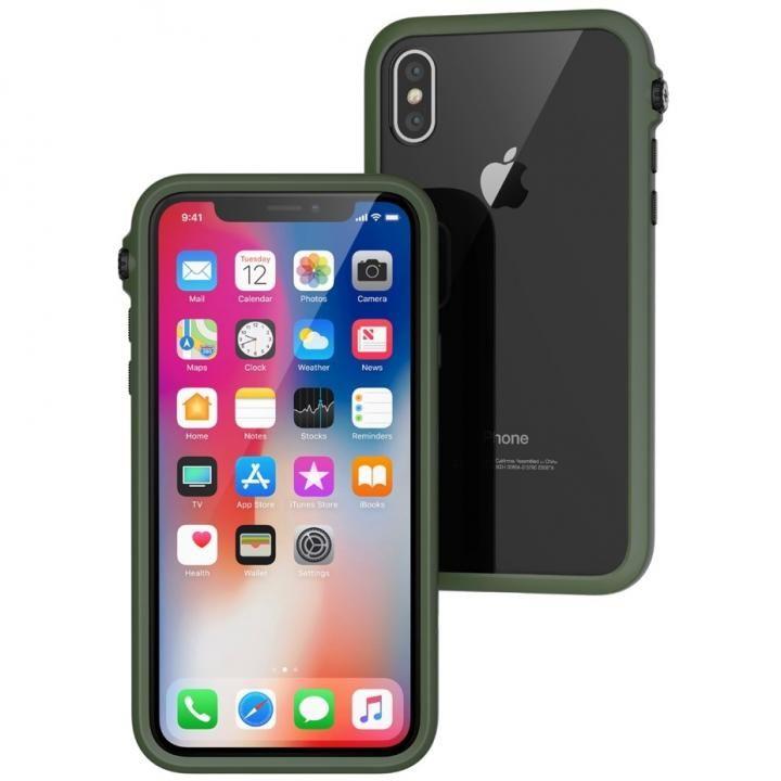 iPhone X ケース Catalyst(カタリスト) 衝撃吸収ケース アーミーグリーンブラック iPhone X_0
