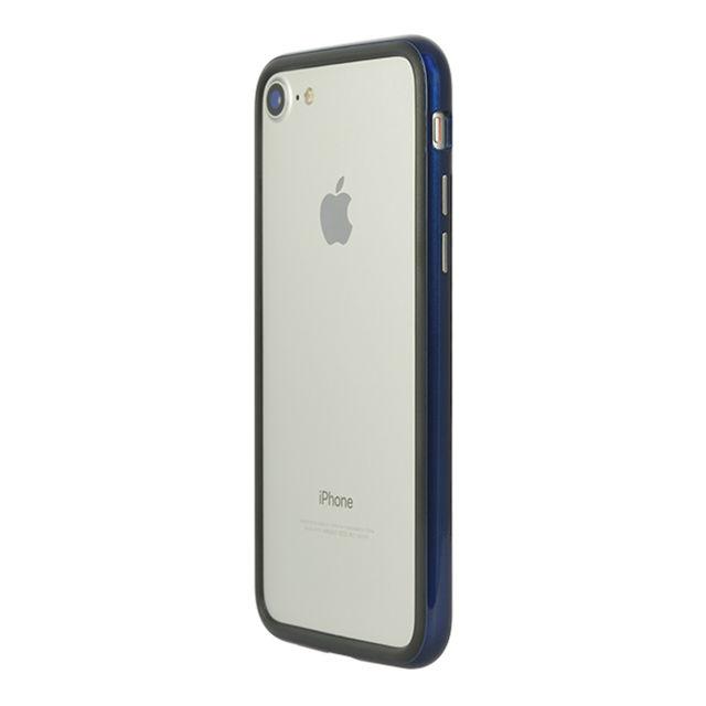【iPhone8/7ケース】パワーサポート Arc bumper ブルーメタル iPhone 8/7_0