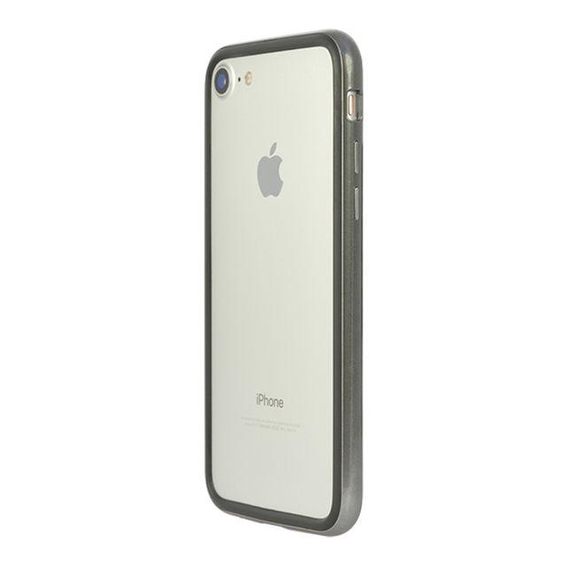【iPhone8/7ケース】パワーサポート Arc bumper クロームブラック iPhone 8/7_0