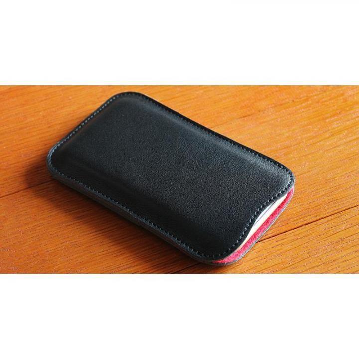 職人が作るレザースリーブ ブラック iPhone 7