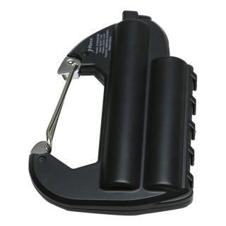 [6000mAh]ライト付カラビナ型フック式防水モバイルバッテリー「世界登山」 ブラック【1月下旬】