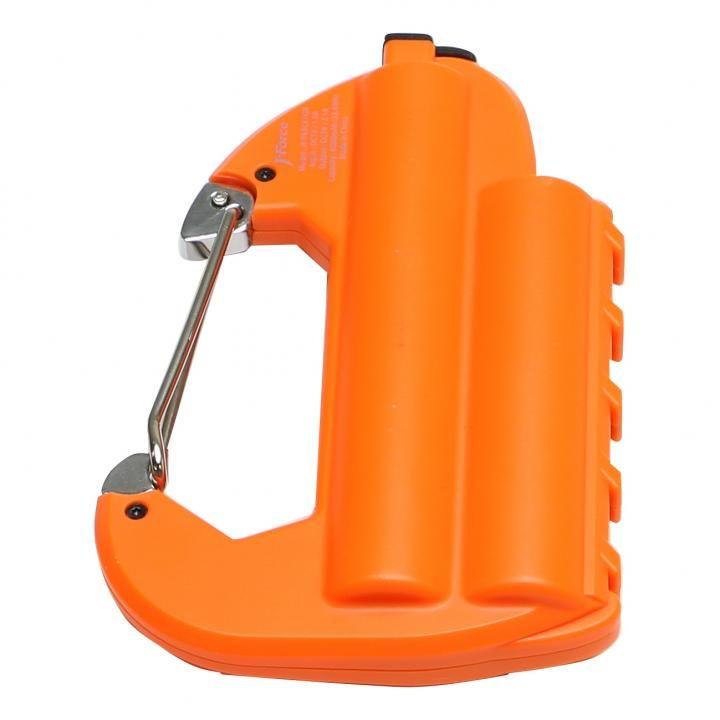 [6000mAh]ライト付カラビナ型フック式防水モバイルバッテリー「世界登山」 オレンジ_0
