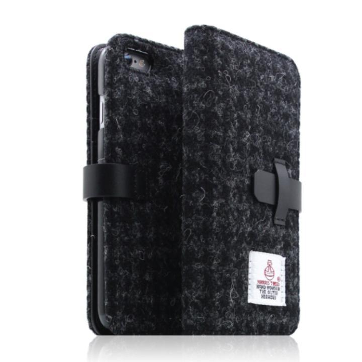 iPhone6s/6 ケース SLG Design ハリスツイード手帳型ケース ブラック iPhone 6s/6_0