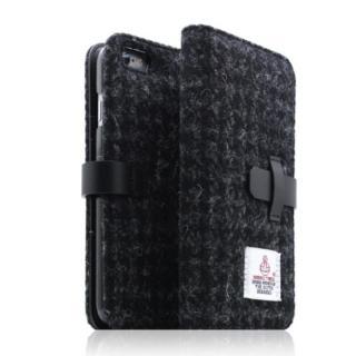 【iPhone6s/6ケース】SLG Design ハリスツイード手帳型ケース ブラック iPhone 6s/6