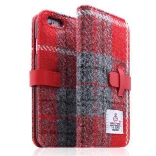 iPhone6s/6 ケース SLG Design ハリスツイード手帳型ケース レッド×グレー iPhone 6s/6