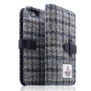 iPhone6s/6 ケース SLG Design ハリスツイード手帳型ケース グレー×ネイビー iPhone 6s/6