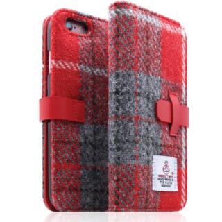 【iPhone6s Plus/6 Plusケース】SLG Design ハリスツイード手帳型ケース レッド×グレー iPhone 6s Plus/6 Plus