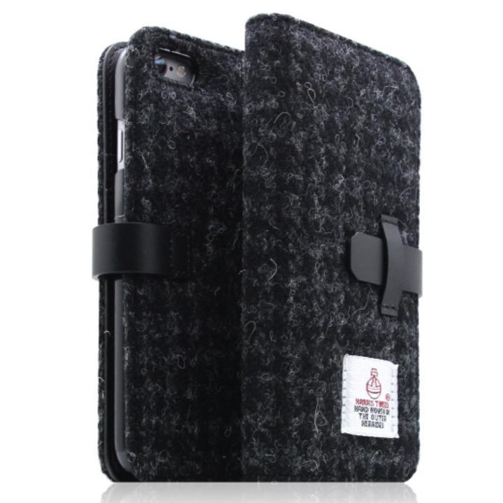 SLG Design ハリスツイード手帳型ケース ブラック iPhone 6s Plus/6 Plus
