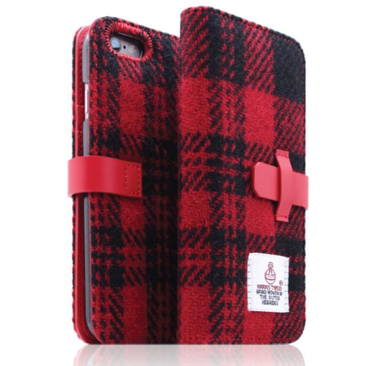 iPhone6s Plus/6 Plus ケース SLG Design ハリスツイード手帳型ケース レッド×ブラック iPhone 6s Plus/6 Plus_0