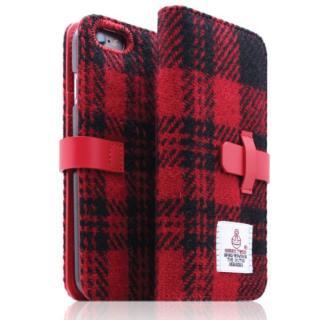 SLG Design ハリスツイード手帳型ケース レッド×ブラック iPhone 6s Plus/6 Plus