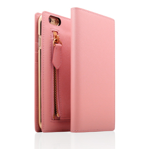iPhone6s Plus/6 Plus ケース SLG Design ジッパー付き手帳型お財布ケース ベビーピンク iPhone 6s Plus/6 Plus_0