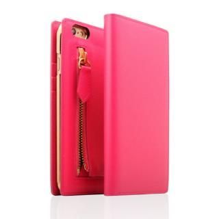 SLG Design ジッパー付き手帳型お財布ケース ホットピンク iPhone 6s Plus/6 Plus