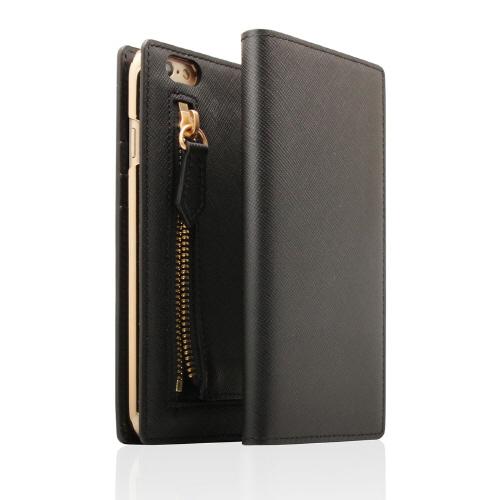 iPhone6s Plus/6 Plus ケース SLG Design ジッパー付き手帳型お財布ケース ブラック iPhone 6s Plus/6 Plus_0