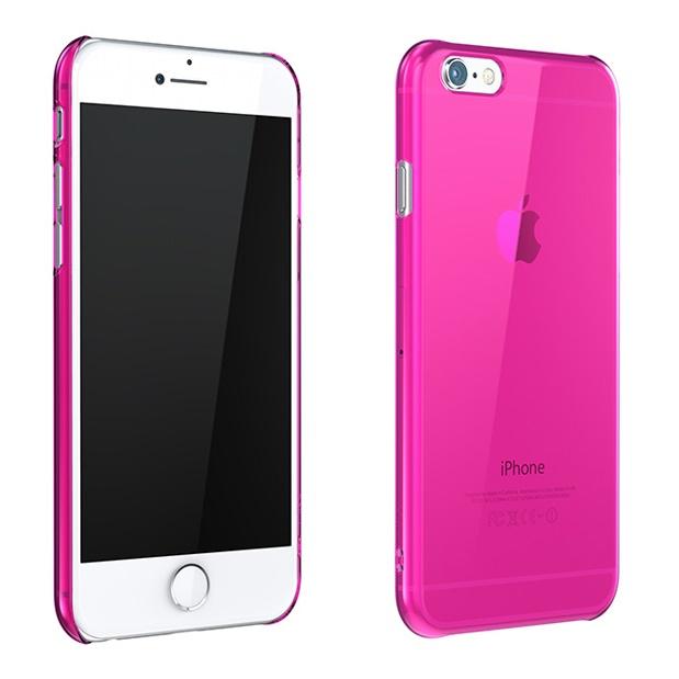 ウルトラスリム 0.5mm クリアハードケース ピンク iPhone 6