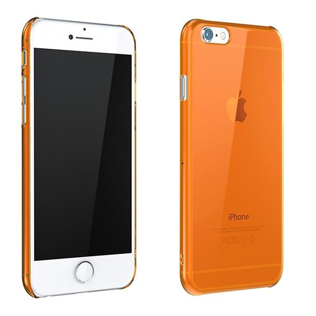 iPhone6 ケース ウルトラスリム 0.5mm クリアハードケース オレンジ iPhone 6_0