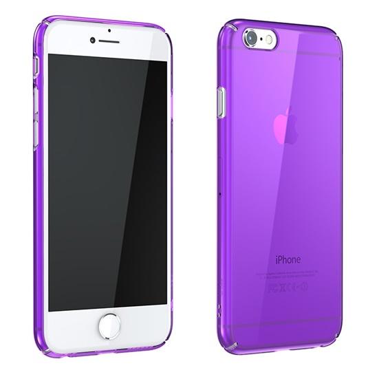 iPhone6 ケース ウルトラスリムタフ 0.5mm クリアハードケース パープル iPhone 6_0