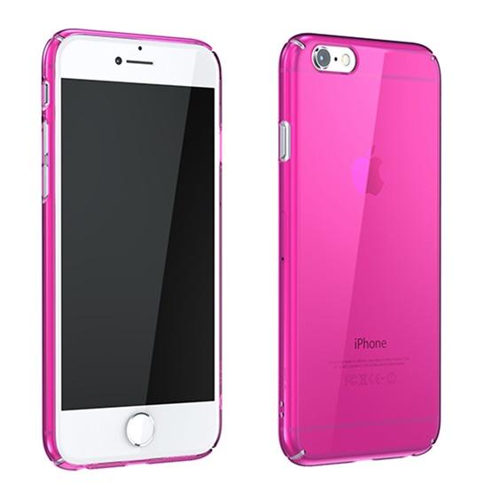ウルトラスリムタフ 0.5mm クリアハードケース ピンク iPhone 6