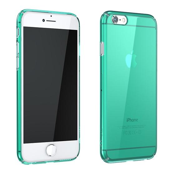 【iPhone6ケース】ウルトラスリムタフ 0.5mm クリアハードケース グリーン iPhone 6_0