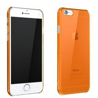 ウルトラスリム 0.5mm クリアハードケース オレンジ iPhone 6 Plus